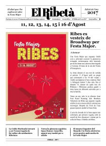 Portada El Ribetà Festa Major 17